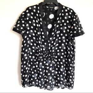 Style &Co Silk Polka Dot Blouse